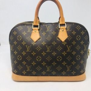 Louis Vuitton Monogram Alma Bag Purse 2460-1-12719